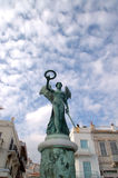 The statue. View of a statue in greece Royalty Free Stock Image