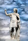 Statue. Photo of statue on moody sky stock images