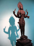 Statue. An ancient bronze indian statue, national museum, New Delhi, India Stock Image