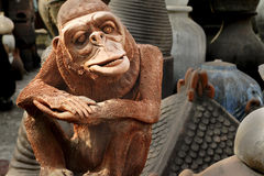 Statue. Characteristic of the statue made apes the center of Java, Indonesia Royalty Free Stock Images