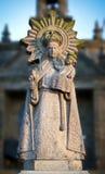 Statue - 2. Stone religious statue of the Virgin. Pontevedra, Spain Royalty Free Stock Photo