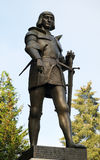 Statue. Bronze monument located in the Ardennes Stock Photo
