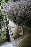Statue. Traditional fijian statue made from wood and natural fibres Royalty Free Stock Photo