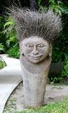 Statue. Traditional fijian statue made from wood and natural fibres Royalty Free Stock Photos