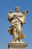 Statue. Over Sant Angelo Bridge, made by Bernini, Rome stock photography