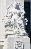Statue. Woman statue made of white stone Royalty Free Stock Image