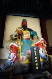Statue. A guan yu's statue in the Guandi Temple Royalty Free Stock Photography