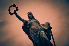 Statue Aard Romania. Statue of liberty in Arad, Romania Royalty Free Stock Photos