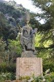 Statue abat Olibe fundator of Montserrat, Catalonia, Spain Royalty Free Stock Photography