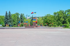 Statue abattue de Lénine Photos stock