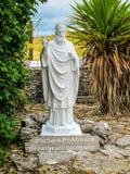St. Patrick`s Causeway Statue, Ballintubber Abbey, Ireland royalty free stock photography