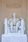 Statue of Abraham Lincoln. Inside Lincoln Memorial in Washington, DC, USA royalty free stock photography