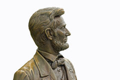 Statue of Abraham Lincoln Isolated Stock Image