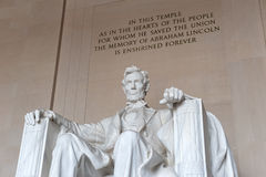 Statue of Abraham Lincoln, Lincoln Memorial Royalty Free Stock Photos