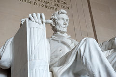Statue of Abraham Lincoln, Lincoln Memorial Royalty Free Stock Images
