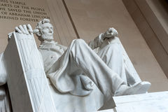 Statue of Abraham Lincoln, Lincoln Memorial Stock Photos