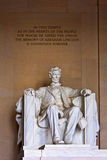 Statue of Abraham Lincoln at the Lincoln Memorial Stock Photos