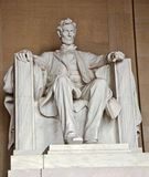 Statue of Abraham Lincoln at the Lincoln Memorial. Washington DC Stock Images