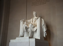 Statue of Abraham Lincoln at the memorial. Statue of Abraham Lincoln inside the Lincoln Memorial in Washington DC Royalty Free Stock Photo