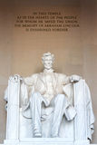 The statue of Abraham Lincoln Royalty Free Stock Images