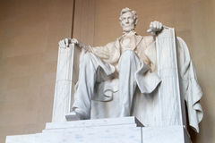 The statue of Abraham Lincoln Stock Photos