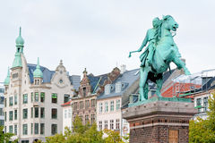 Statue of Absalon in Copenhagen, Denmark Stock Image