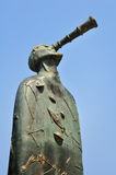 Statue abstraite sur la promenade et le x28 ; malecon& x29 ; Puerto Vallarta photographie stock