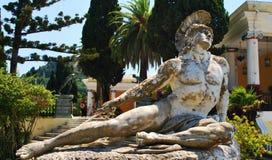 Statue of Achilles. In Achillion palace, Corfu Stock Photo