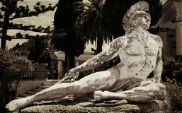 Statue of Achilles. In Achillion palace, Corfu Stock Photography