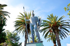 The statue of Achilles in Achilleion Royalty Free Stock Photo