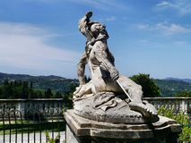 Statue of Achilles, Achilleion Palace, Corfu. Statue of Achilles with spear in heel Royalty Free Stock Photo