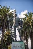 Statue of Achilles in Corfu, Greece Royalty Free Stock Image