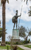 Statue of Achilles. Greece, Achillion palace Royalty Free Stock Image