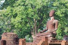 Statue Acient Buddha in historischem Park Kamphaeng Phet Lizenzfreie Stockbilder