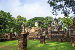Statue Acient Buddha in historischem Park Kamphaeng Phet Stockbild