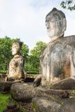 Statue Acient Buddha in historischem Park Kamphaeng Phet Lizenzfreie Stockfotografie