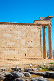 Statue acropolis athens    historical    in   architecture Royalty Free Stock Photography