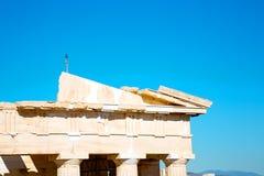 Statue acropolis athens     the old Stock Photos