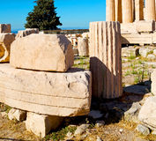 Statue acropolis athens   place  and  historical    in greece th Royalty Free Stock Image