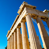 Statue acropolis athens   place  and  historical    in greece th Stock Images