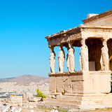 Statue acropolis athens   place  and  historical    in greece th Stock Image