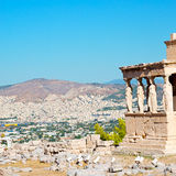 Statue acropolis athens   place  and  historical    in greece th Royalty Free Stock Images