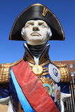 Statue of Admiral Lord Nelson in Portsmouth Royalty Free Stock Images
