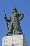 Statue of Admiral Yi Sun Shin. In Seoul, South Korea Stock Images