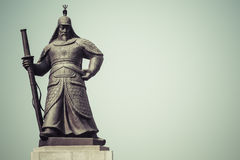 Statue of Admiral Yi Sunsin on Gwanghwamun plaza in Seoul, South Stock Photo
