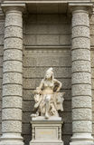 Statue of Afrika next to Natural History Museum Vienna Stock Photo