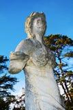 Statue against the sky, Castello, Conegliano Veneto, Treviso, Italy. Stone statue against the blue sky at Castello, Conegliano Veneto, Treviso, Italy, Europe Stock Photos