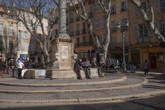 Statue Aix-en-Provence. Statue Centre Ville, Aix-en-Provence Royalty Free Stock Photos