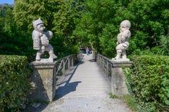 Statue al giardino del palazzo di Mirabell a Salisburgo, Austria Immagini Stock Libere da Diritti