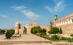 Statue of Al-Khwarizmi in front of Itchan Kala in Khiva, Uzbekistan Stock Photos